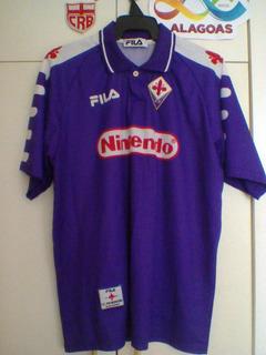Camisa Oficial Fiorentina 1998 Fila Jogador Edmundo.
