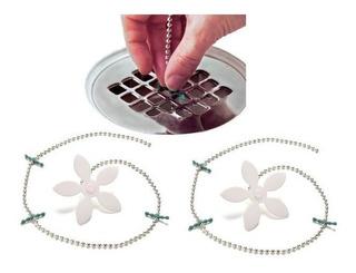 Kit 2 Filtro Dreno Coletor Cabelos Para Ralo Banheiro Flor