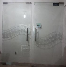 Vendo Puertas De Ctistal Templado De 2m X 2.18 M De 12 Mlmts