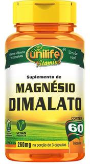 Magnesio Dimalato 60 Capsulas Unilife Cod. 024