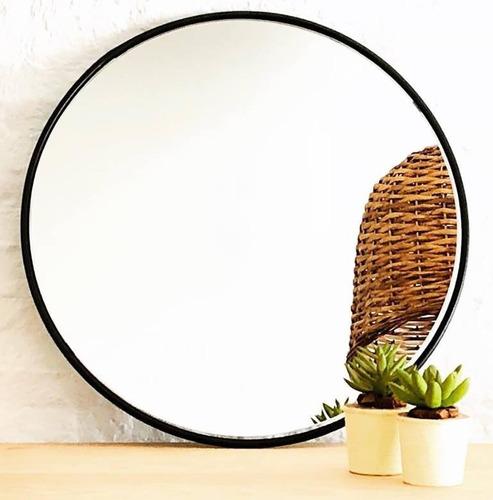 Espejo Redondo Circular En Hierro 40cm Diam. Lab. Home