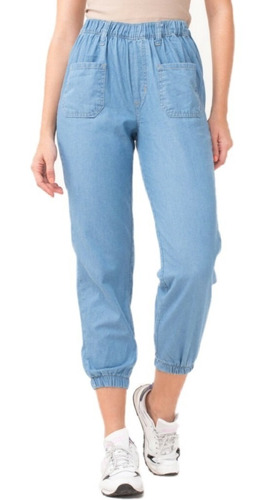 Jogger Jean Mujer Babucha Pantalon Tipo Pijama Con Elastico Mercado Libre