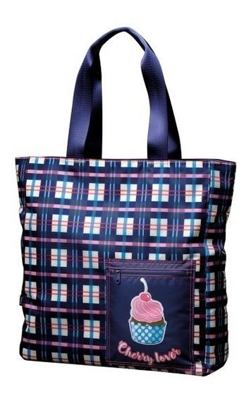Bolsa Tote Bag Cupcake Xadrez Square