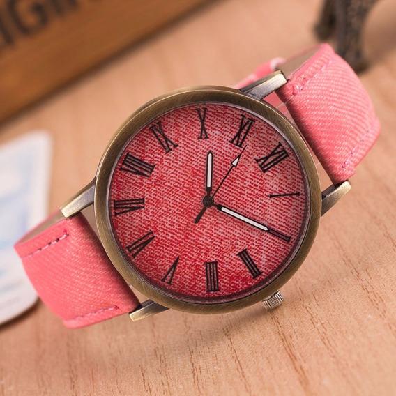 Relógio De Pulso Jeans Menina Criança Adolescente 162