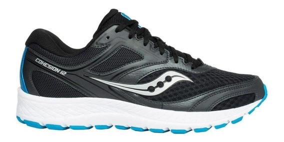 Tenis Running Saucony Cohesion 12 Black/blue Caballero - Run24