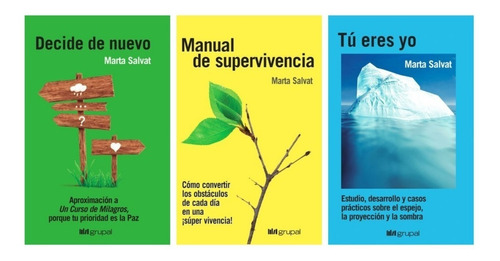 Imagen 1 de 4 de Pack Marta Salvat - Decide De Nuevo + Tu Eres Yo + Manual