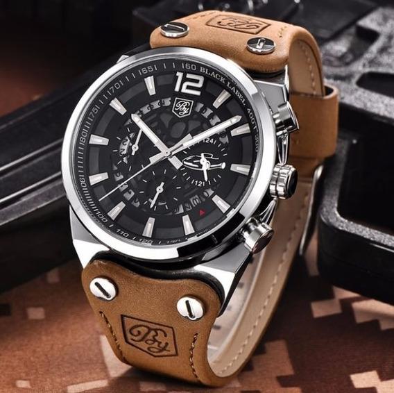 Relógio Masculino Benyar Luxo Original Aço Inox Frete Grátis