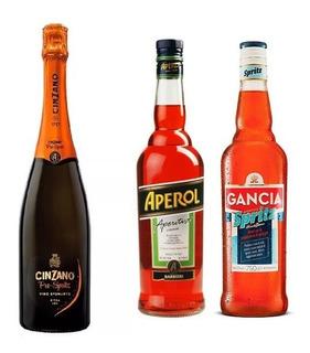 1 Aperol +1 Gancia Spritz + 1 Champagne Prosseco Italiano
