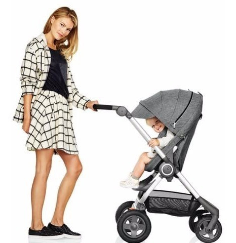 Carrinho De Bebê Cinza Marca Stokke Modelo Xplore