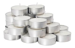 Velas Tea Light Blancas Flotantes Sin Aroma 50pzs