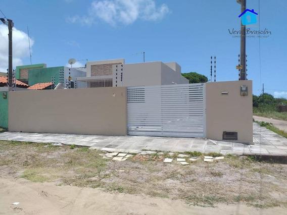 Casa 2 Dormitórios À Venda, 51 M² Por R$ 150.000,00 - Village - Conde/pb - Ca0495
