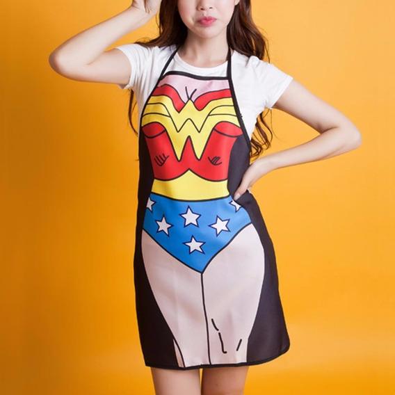 Mandil Mujer Maravilla, Wonder Woman, Envío Incluído