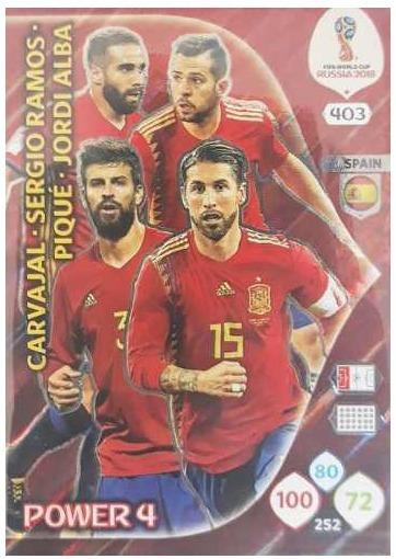 Card Power 4 Spain Nº 403 - Adrenalyn Xl Russia 2018