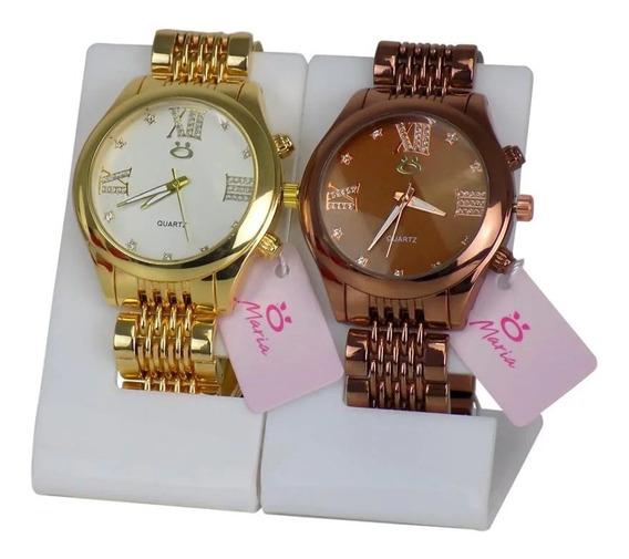 Kit 2 Relógio Feminino Original Linda, Moda