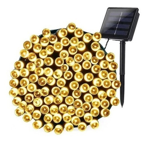 Serie Navideña Carga Sensor Solar Led Cálido Colores