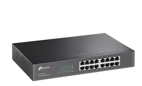 Switch 16 Bocas Tp-link Tl-sg1016d 10/100/1000 Mbp Rackeable