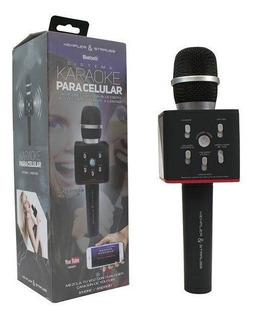 Microfono Bluetooth Karaoke Para Celular Bocinas Integradas
