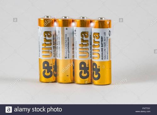 Baterias Alcalinas Gp Doble A 1.5v (cuatro Piezas)
