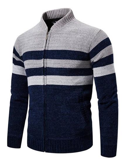 Suéter De Cuello De Color De Moda Para Hombre