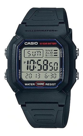 Reloj Casio Digital W-800h-1av Caballero Original E-watch