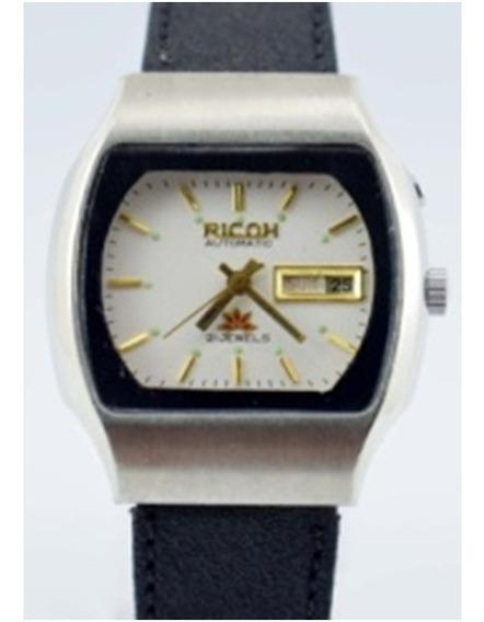 Relógio De Pulso Vintage Ricoh 21j Automático Feito Da Índia