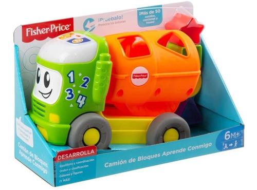 Imagen 1 de 6 de Camion De Encaje Y Bloques Fisher Price Con Sonido Mattel