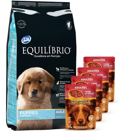 Equilibrio Cachorro Raza Grande 15 Kg + 4 Paté+ Envío Gratis