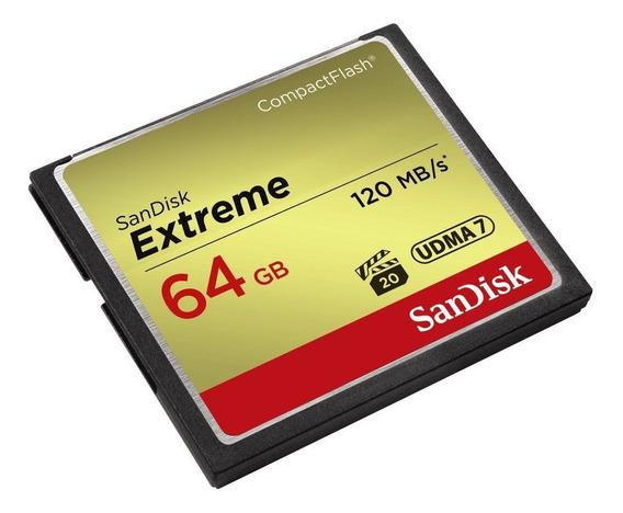 Cartão Compact Flash 64gb Extreme Sandisk