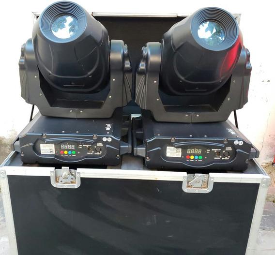 2 Muving Head Spot No Case. Cores, Gobo + Disco De Cor + Dmx