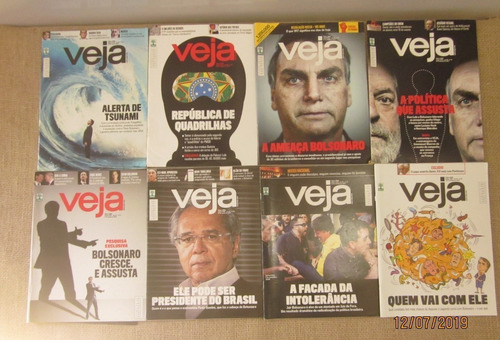 Admisión Polo sorpresa  Lote 19 Revistas Veja Jair Bolsonaro Governo Política | Mercado Livre