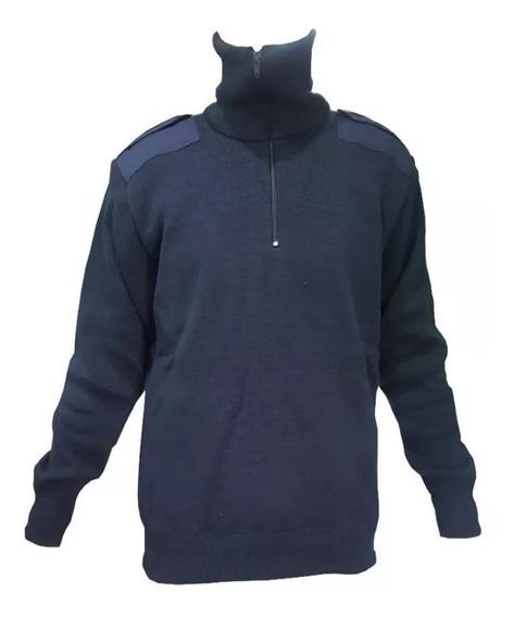 Tricota Policial Negra // Azul Forrada Con Abrigo