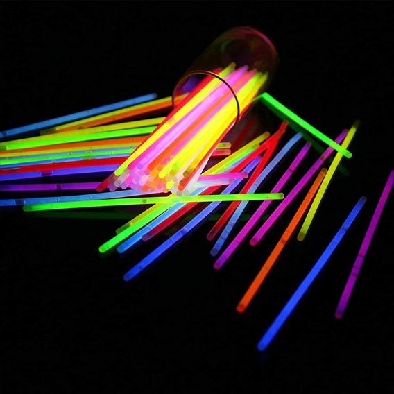 Pulseras Neon Glow Tubo X 50 Unidades