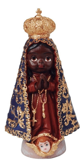 20 Imagem Nossa Senhora Aparecida Infantil Em Resina 15cm
