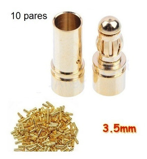 Plug Conector 3.5mm (gold Bullet) Motor Brushless 10 Pares