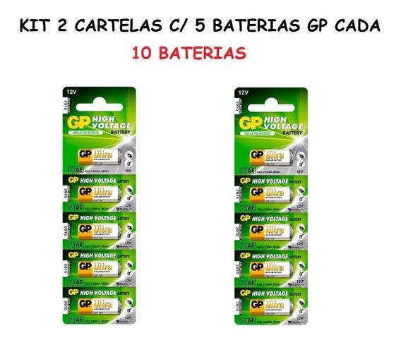 2 Cartelas: 10 Baterias Gp Ultra High Voltage Alcalina 23a