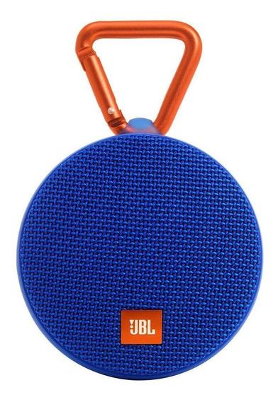 Caixa de som JBL Clip 2 portátil sem fio Blue