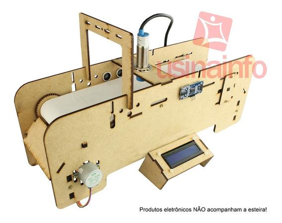 Esteira Arduino Em Mdf Para Projetos + Kit De Peças