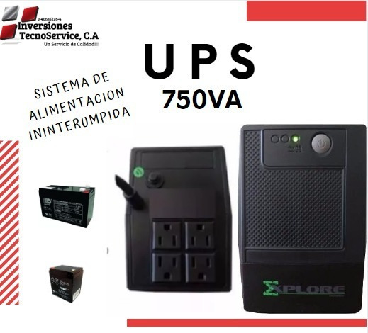 Ups Explore Power 750 Va 4 Tomas