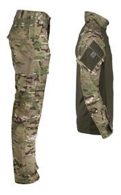 Conjunto Combat Shirt + Calça Combat Multicam - Bélica