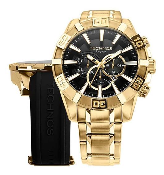 Relógio Technos Masculino Esportivo Dourado Os2aajac/t4p