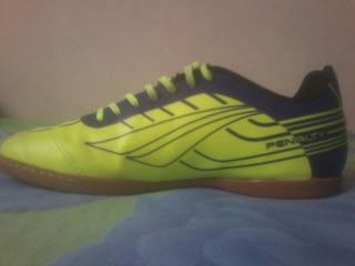 Tênis Futsal Pênalti Cor: Verde E Roxo.