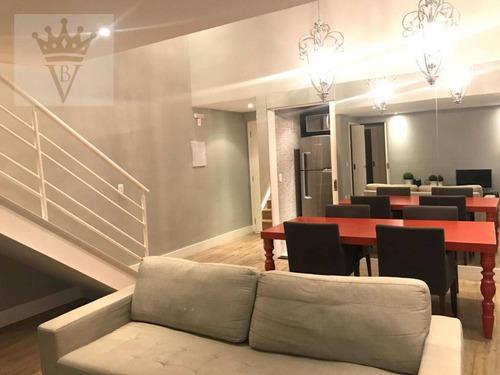 Apartamento Duplex Com 2 Suítes, 100 M² - Venda Por R$ 1.400.000 Ou Aluguel Por R$ 5.000/mês - Brooklin - São Paulo/sp - Ad0105