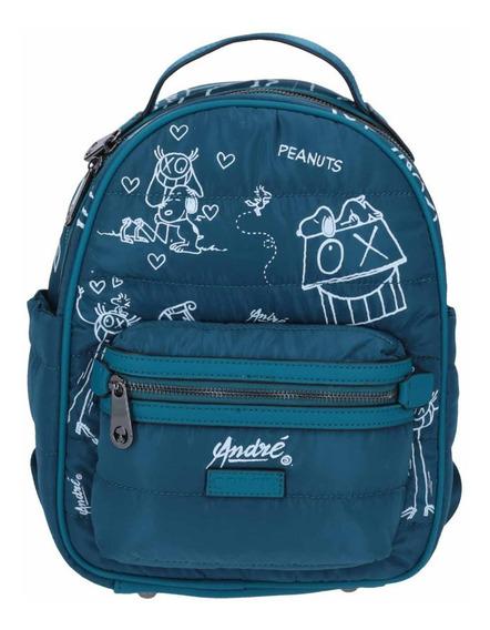 Backpack Mediano En Tela Peanuts Snoopy Original Dama-teens