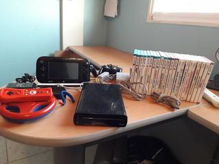 Wii U Negro Totalmente Funcional Con Todos Los Accesorios.