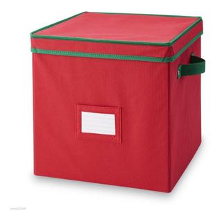 Caja Para Guardar Adornos De Navidad Essential Home 64 Cube