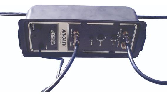 Amplificador 30db Tv Digital Hdtv Arcatv 110v Kit 10un.
