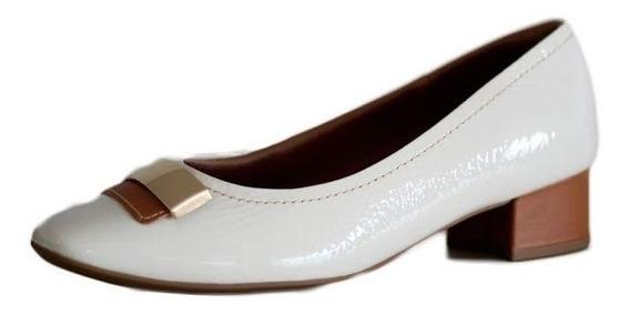 Sapato Confortável Usaflex Com Salto Quadrado 2702 Compre!