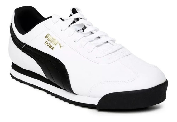 Zapatillas Puma Roma Basic Hombre - Blanco
