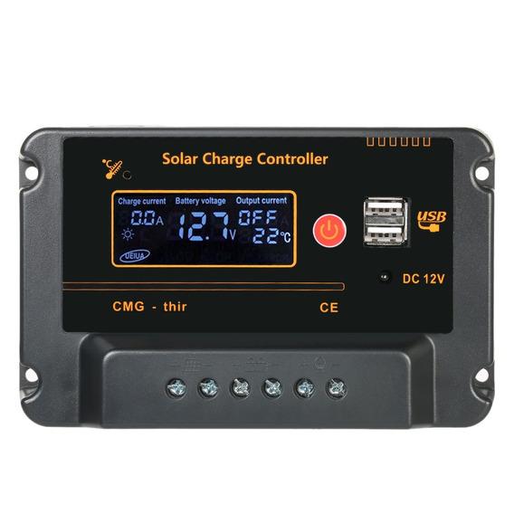 Anself 30a 12v 24v Lcd Controlador De Carga Solar Panel