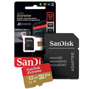 Micro Sdhc Extreme 32gb 100mbs Sandisk 4k Go Pro Original